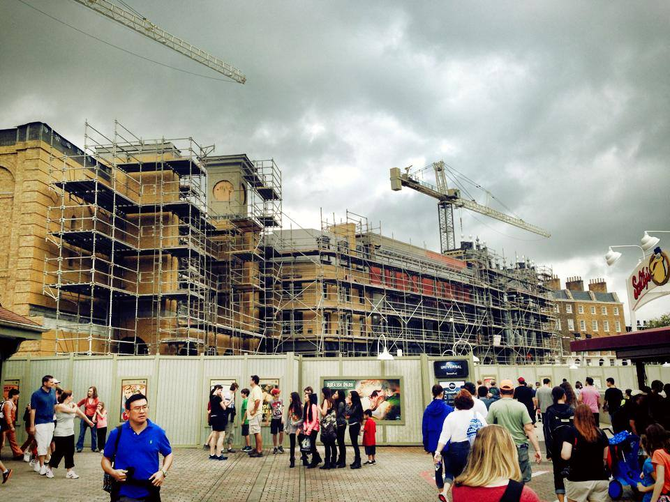 Diagon Alley Construction on December 29, 2013. Week in Review