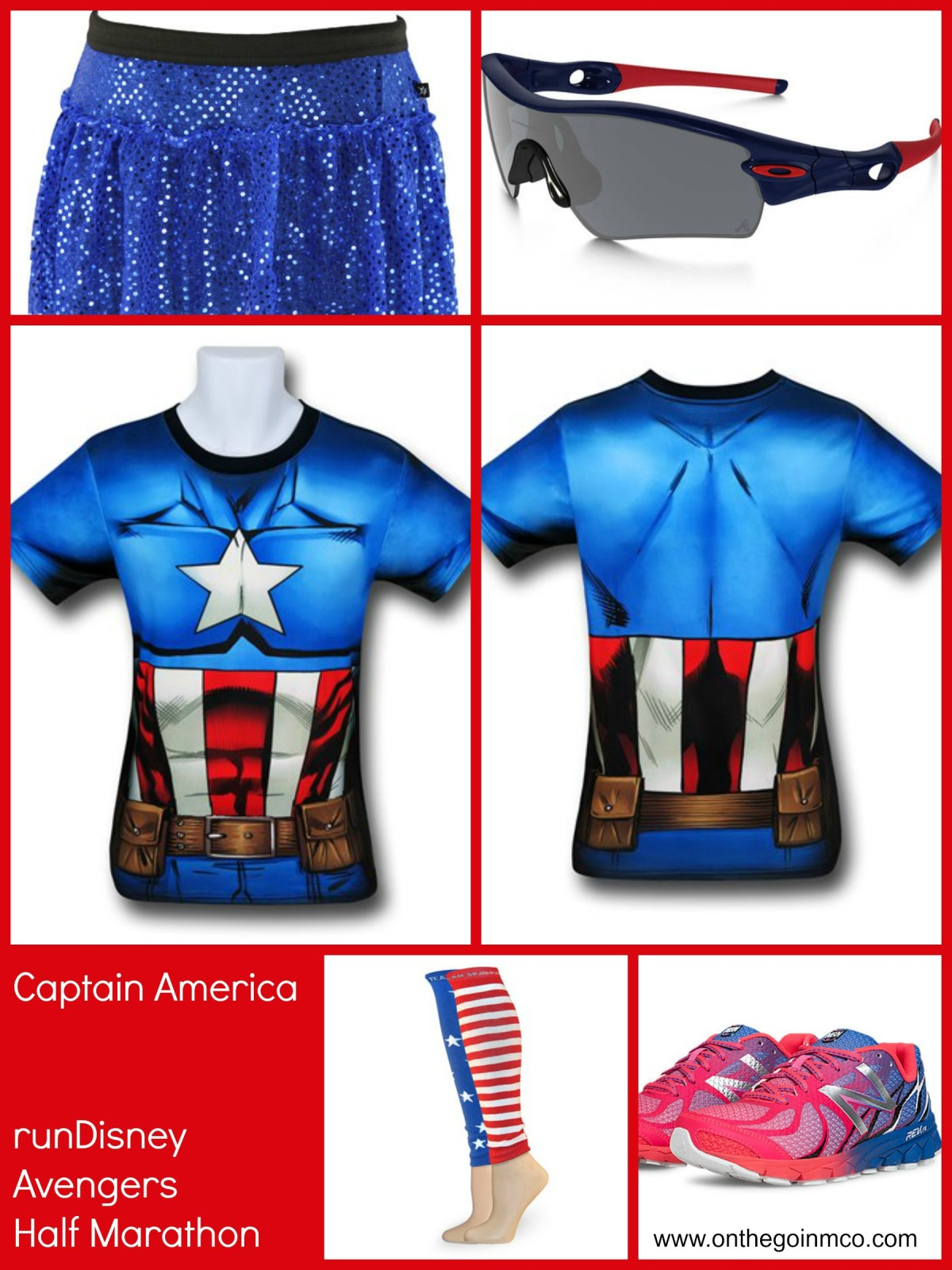 Captain America runDisney Avengers Half Marahton Idea Collage