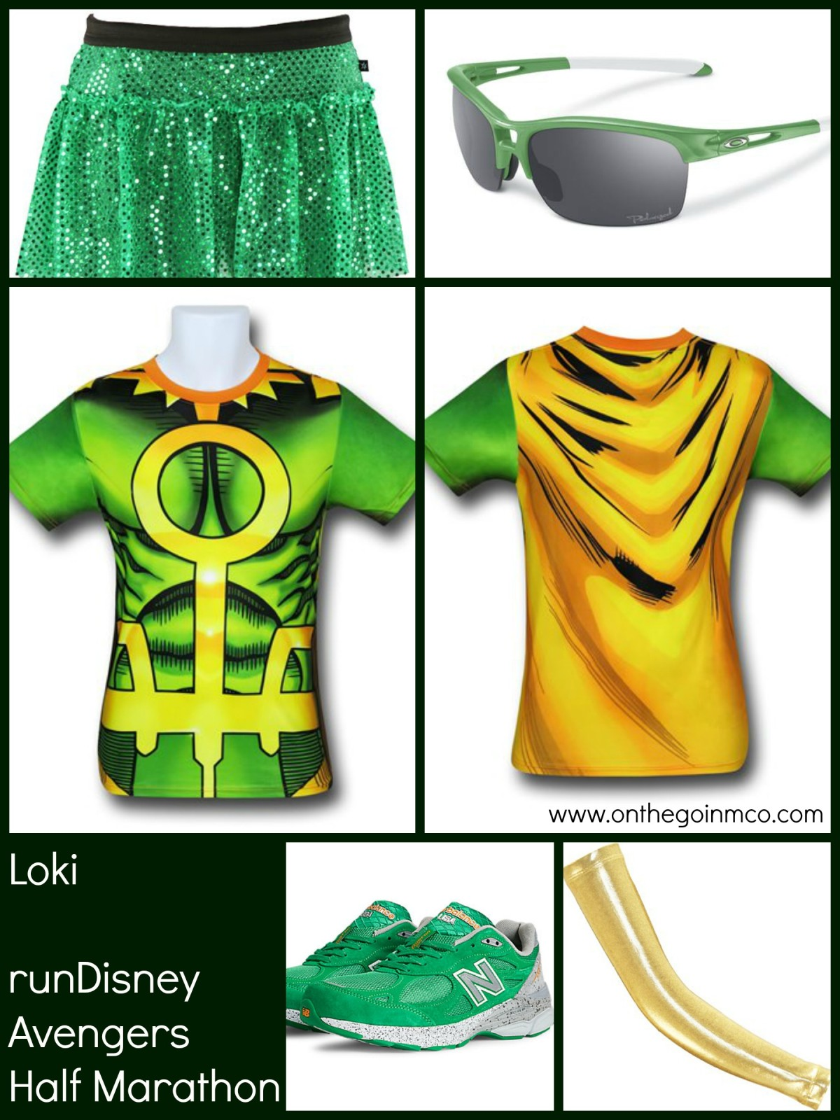 Loki runDisney Avengers Half Marahton Idea Collage