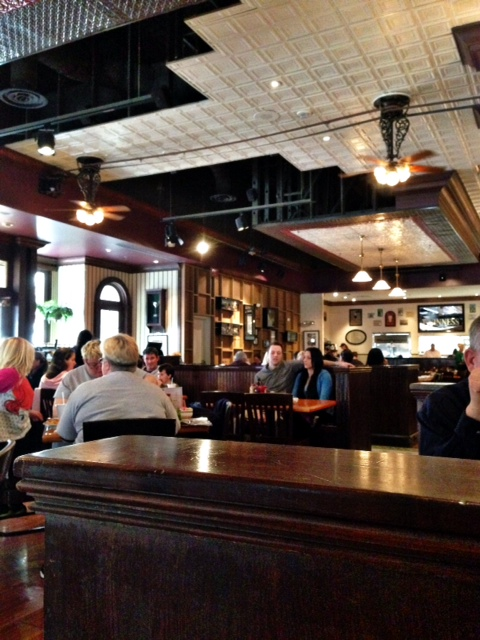 restaurant décor is cozy, and while it is distinctly that of an Irish ...