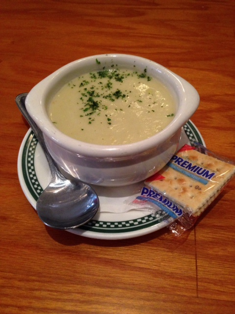 ... starts off with the Potato Leek Soup, which is creamy and flavorful