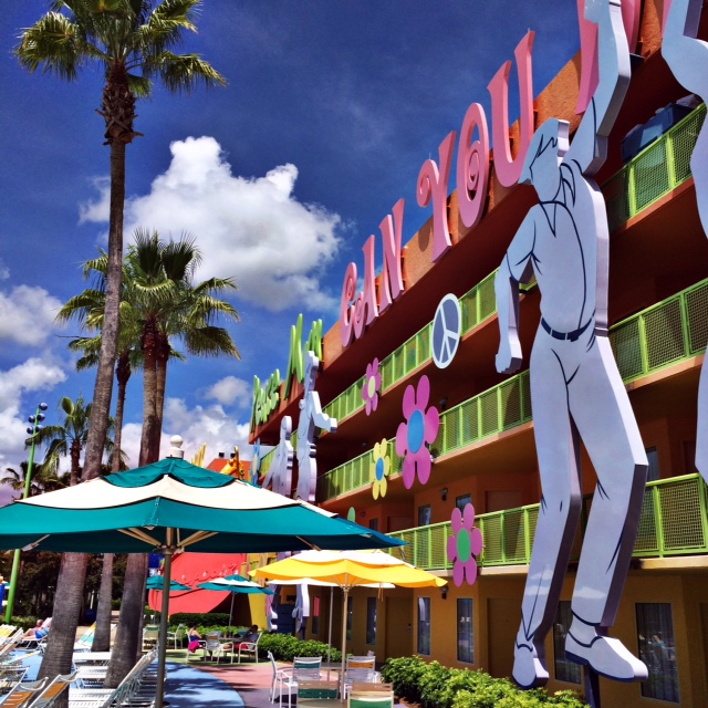 Pop Century Resort Walkway