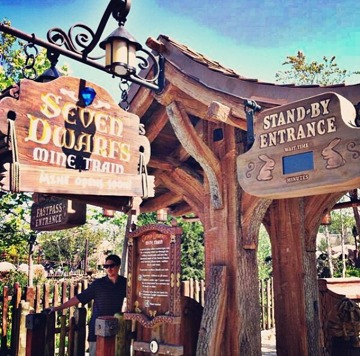 Seven Dwarfs Mine Train Signs