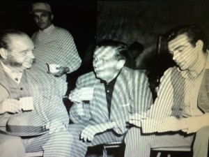 Walt Disney and Sean Connery on the set of Darby O'Gill and the Little People - image copyright Disney