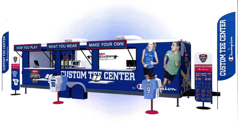 Custom Tee Center by Champion ESPN Wide World of Sports Walt Disney World