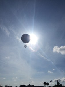 The balloon occasionally did a good job of blocking the sun for us.