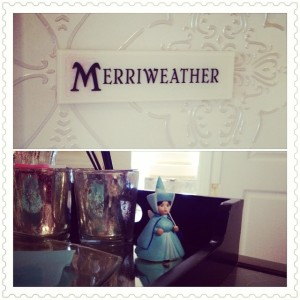 We got to meet in the Merryweather room! Disney Wedding