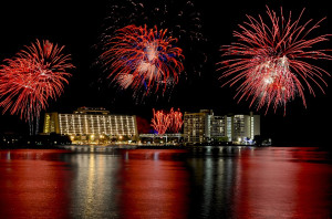 Independence Day fireworks from Bay Lake