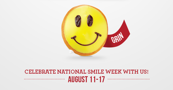 National Smile Week Krispy Kreme Doughnuts