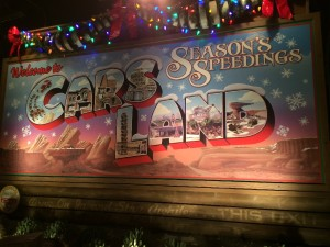 Seasons Speedings from Cars Land