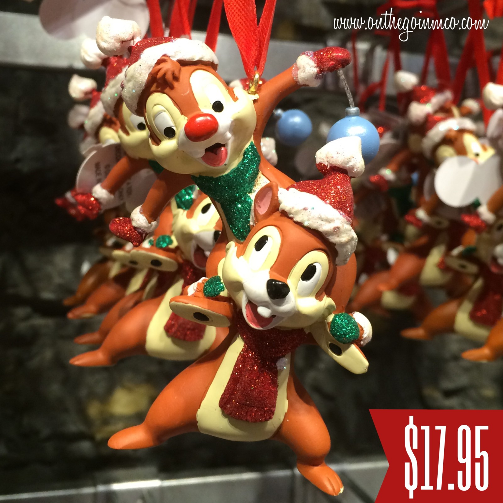 Walt Disney World Christmas Ornaments - Chip and Dale