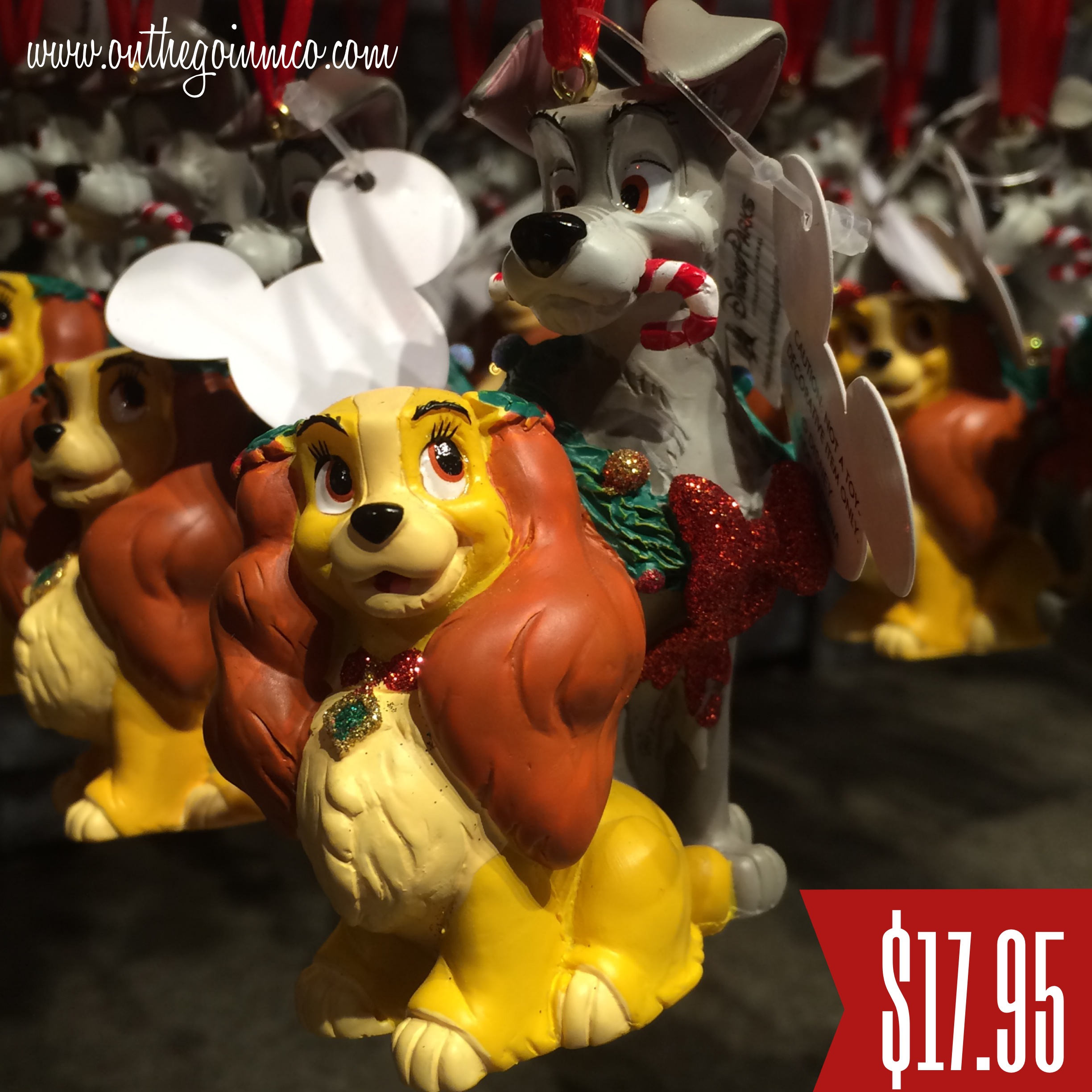 walt disney world christmas ornaments lady and the tramp - Disney Christmas Characters
