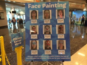 facepainting Disney on Ice presents Frozen Amway Center