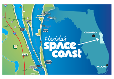 Florida's Space Coast Map