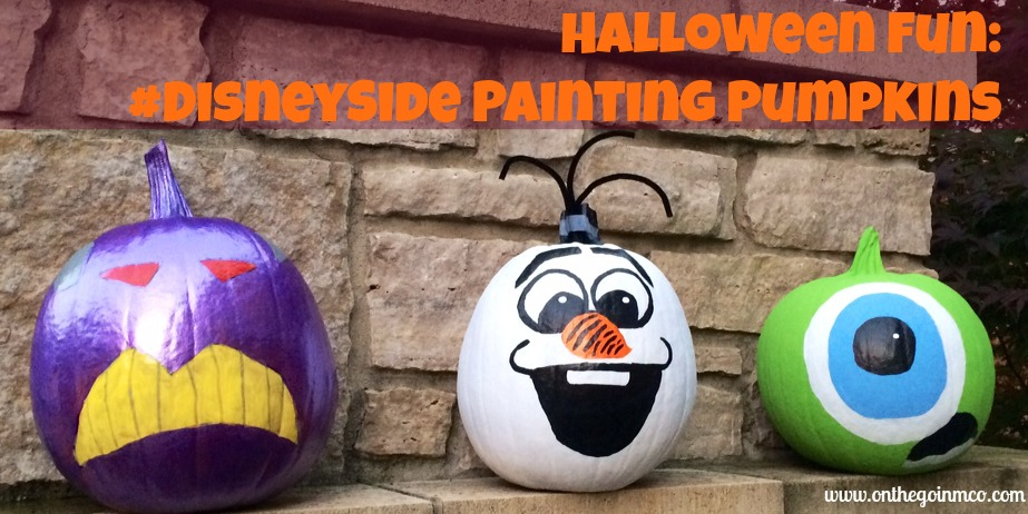 Halloween Fun: #DisneySide Painting Pumpkins Header