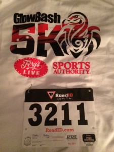 GlowBash race shirt & bib