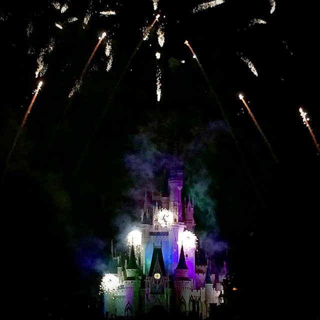 Wordless Wednesday Hallowishes Magic Kingdom Halloween Fireworks Castle