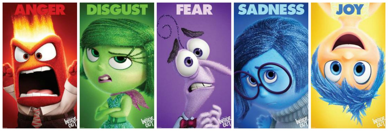 Disney Pixar Inside Out Character Collage