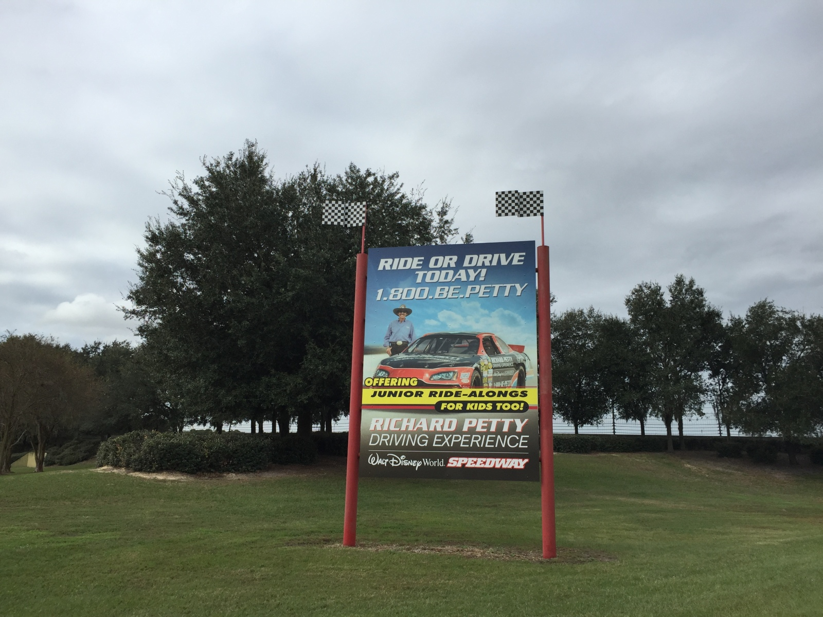 Richard Petty Driving Experience Sign