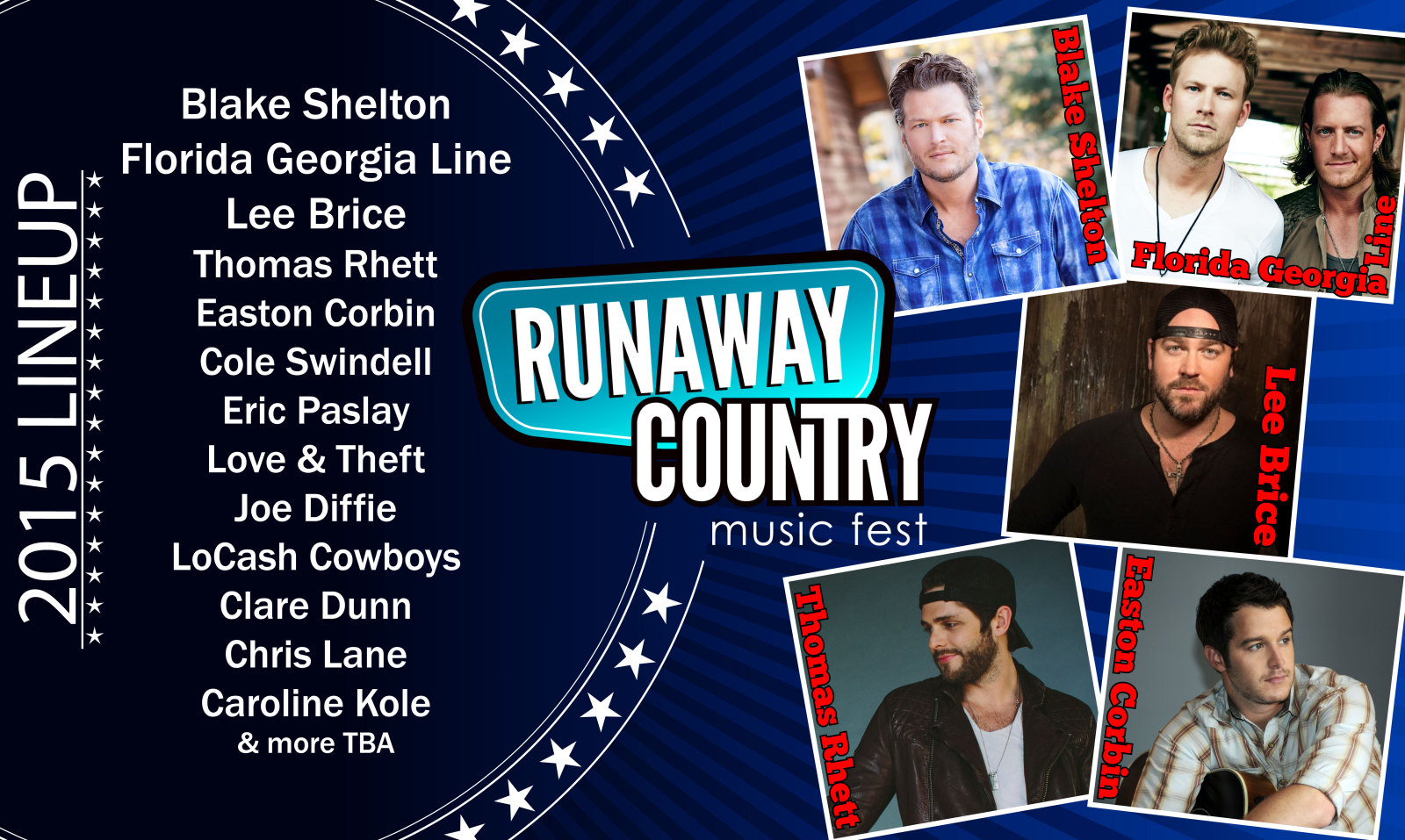 Runaway Country Music Festival 2015 gifts