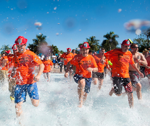 Speical Olympics Florida Polar Plunge at Aquatica