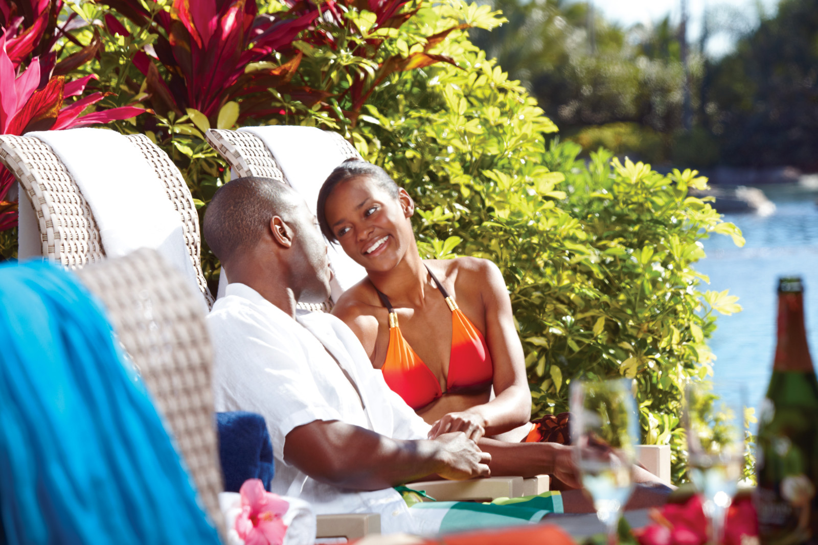 Discovery Cove Orlando Valentine's Day Dolphin Experience Private Cabana
