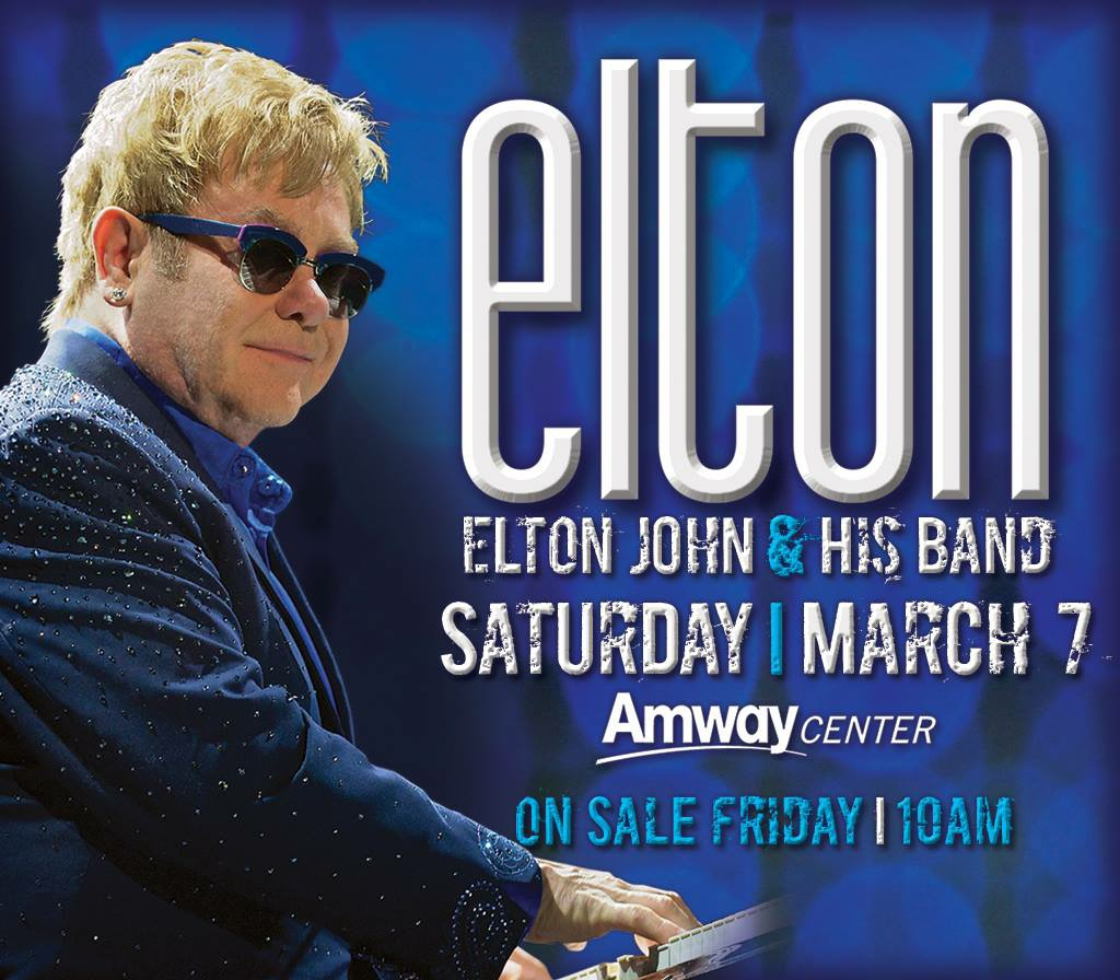 Elton John All Hits Tour Amway Center Orlando Florida 2015