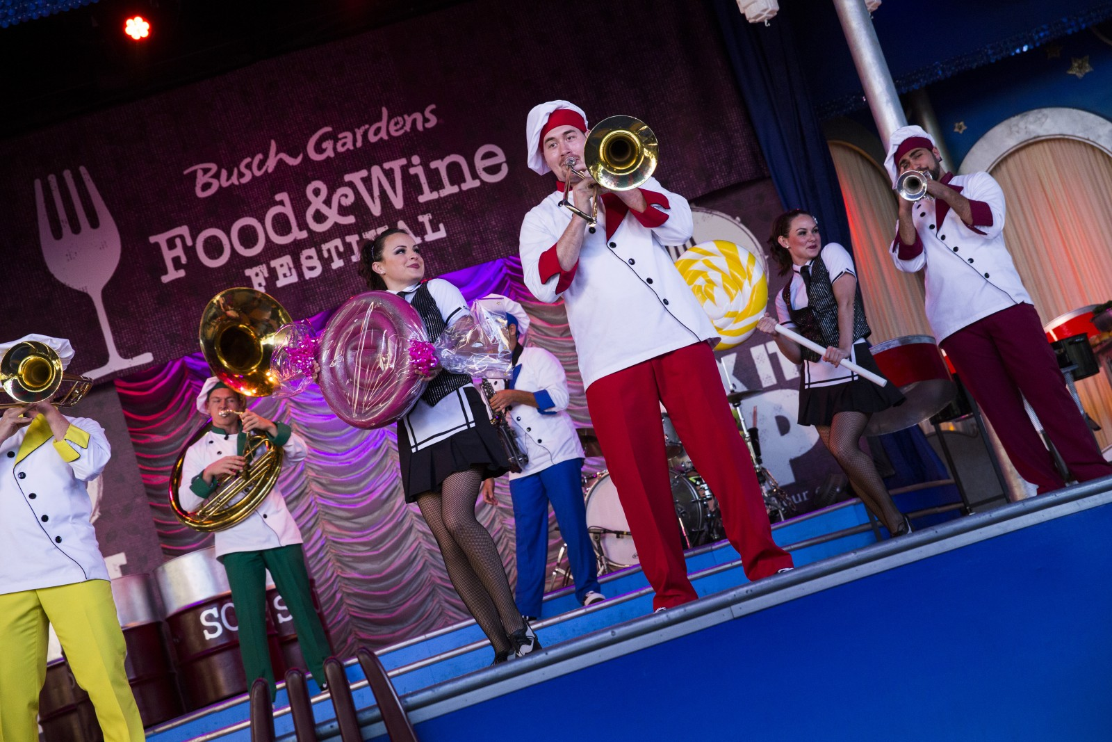Busch Gardens Tampa Food & Wine Festival Entertainment