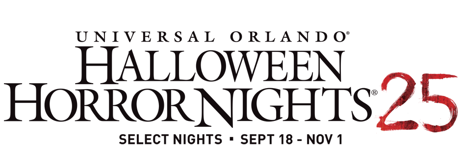 Halloween Horror Nights 25 Logo 2015 Universal Orlando Resort