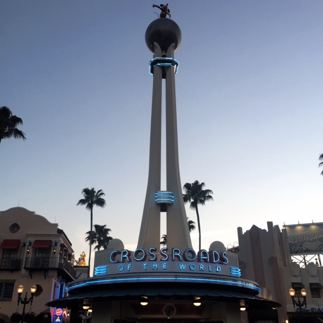 Wordless Wednesday Crossroads of the World Disney's Hollywood Studios Dusk Neon