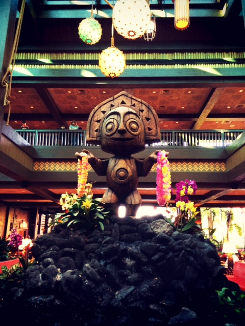 Tiki Shrug Lobby Disney's Polynesian Village Resort