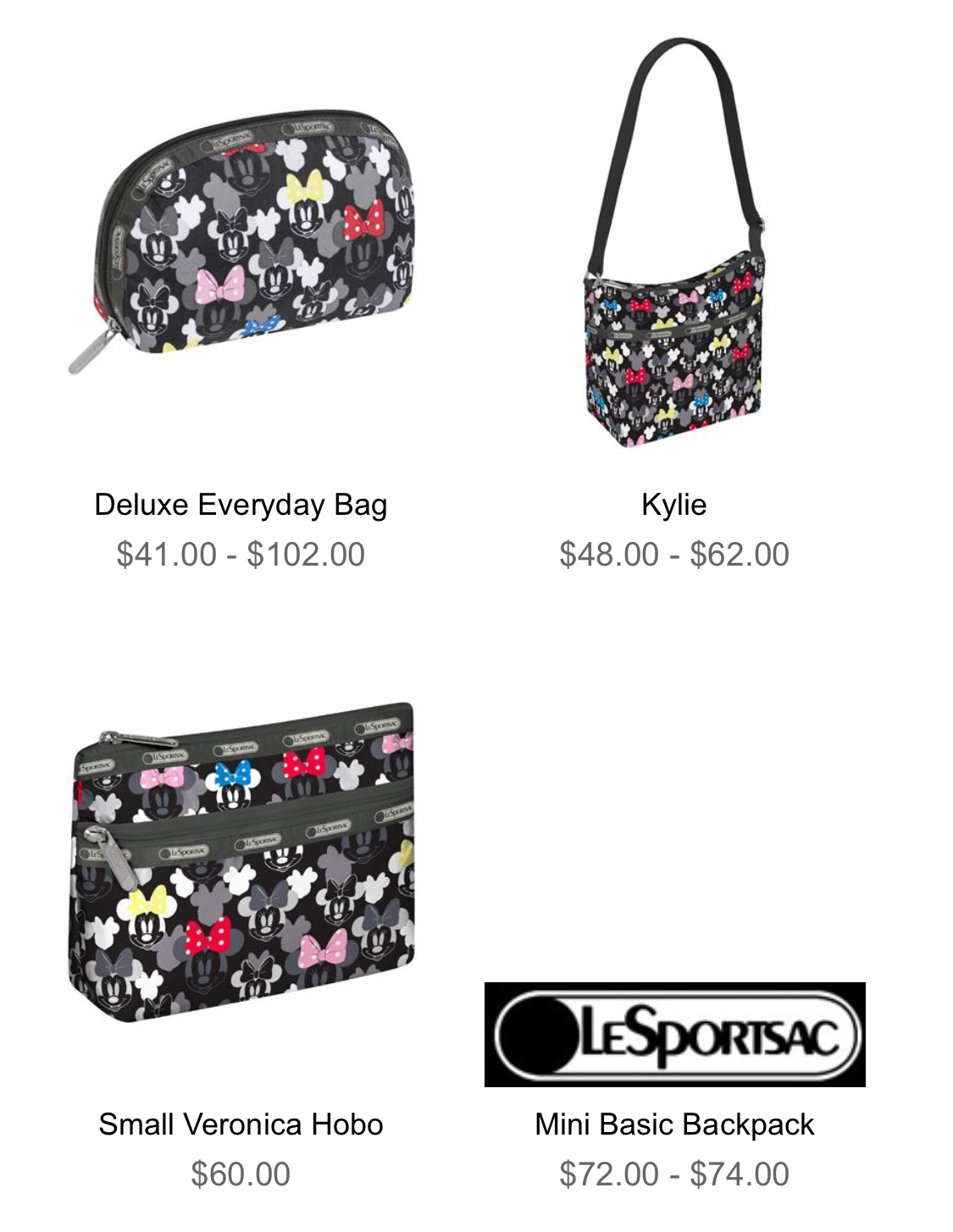 LeSportsac Minnie Rocks the Dots