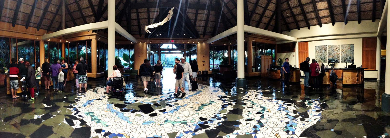Discovery Cove Lobby Panorama