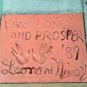 The Great Movie Ride Courtyard Leonard Nemoy