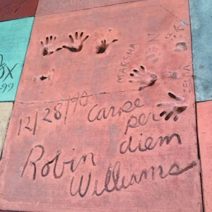 The Great Movie Ride Courtyard Robin Williams and Family