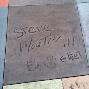 The Great Movie Ride Courtyard Steve Martin
