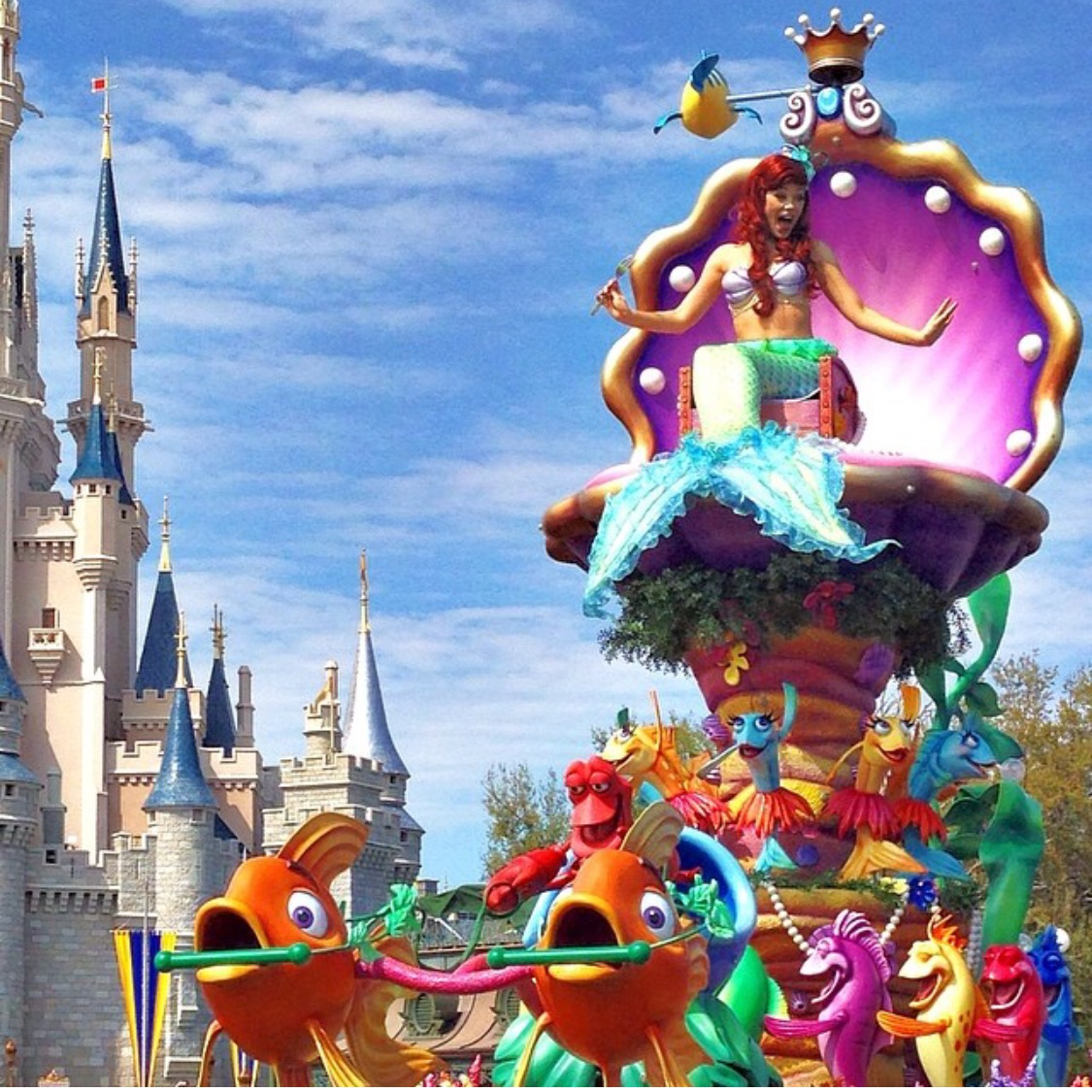 Wordless Wednesday Festival of Fantasy Parade Magic Kingdom Walt Disney World Ariel Little Mermaid
