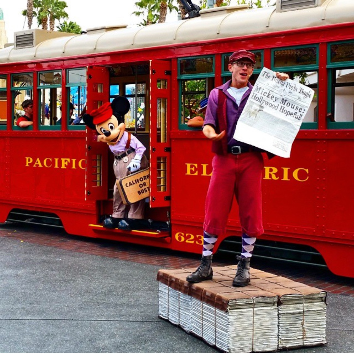 Wordless Wednesday Suitcase and a Dream Red Car Trolley Disney's California Adventure