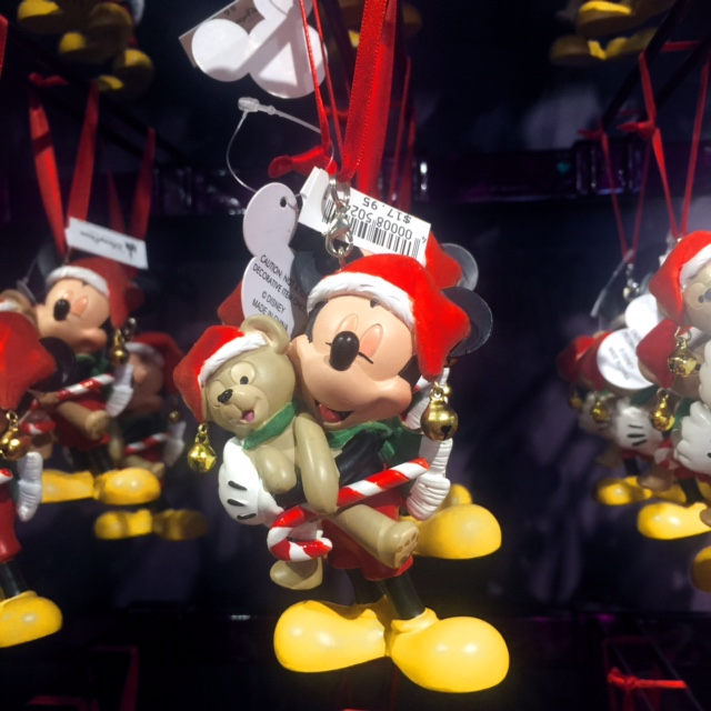 Celebrating A Disney Christmas Mickey Mouse and Duffy Christmas Character Ornament
