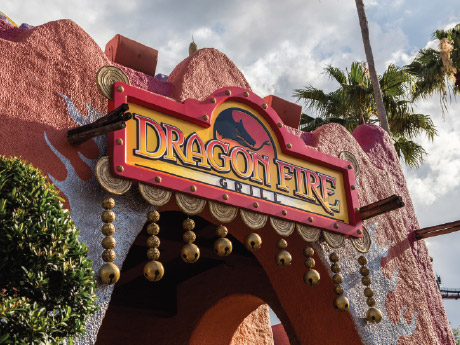Busch Gardens Tampa Dragon Fire Grill Sign