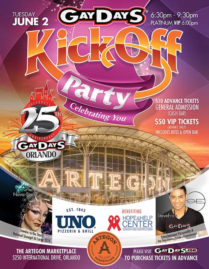 Gay Days Flyer Artegon Marketplace 2015