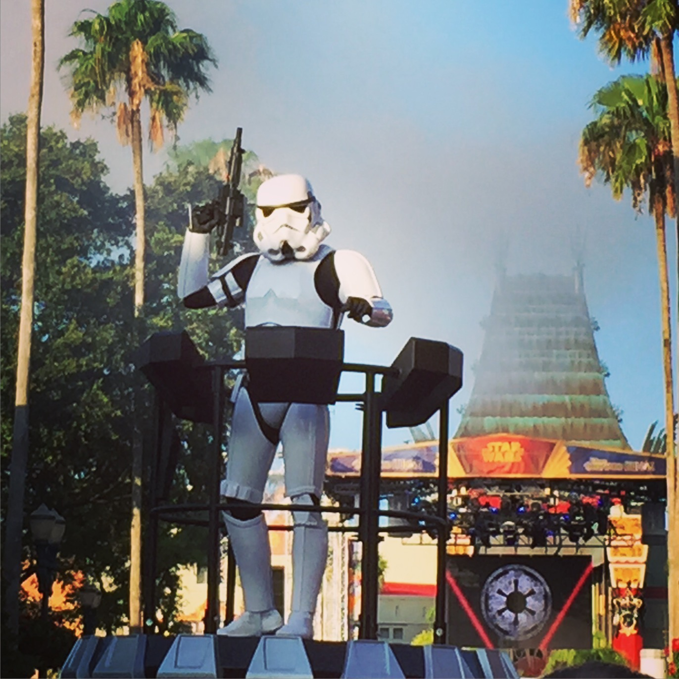Stormtroopers welcome visitors to Star Wars Weekends
