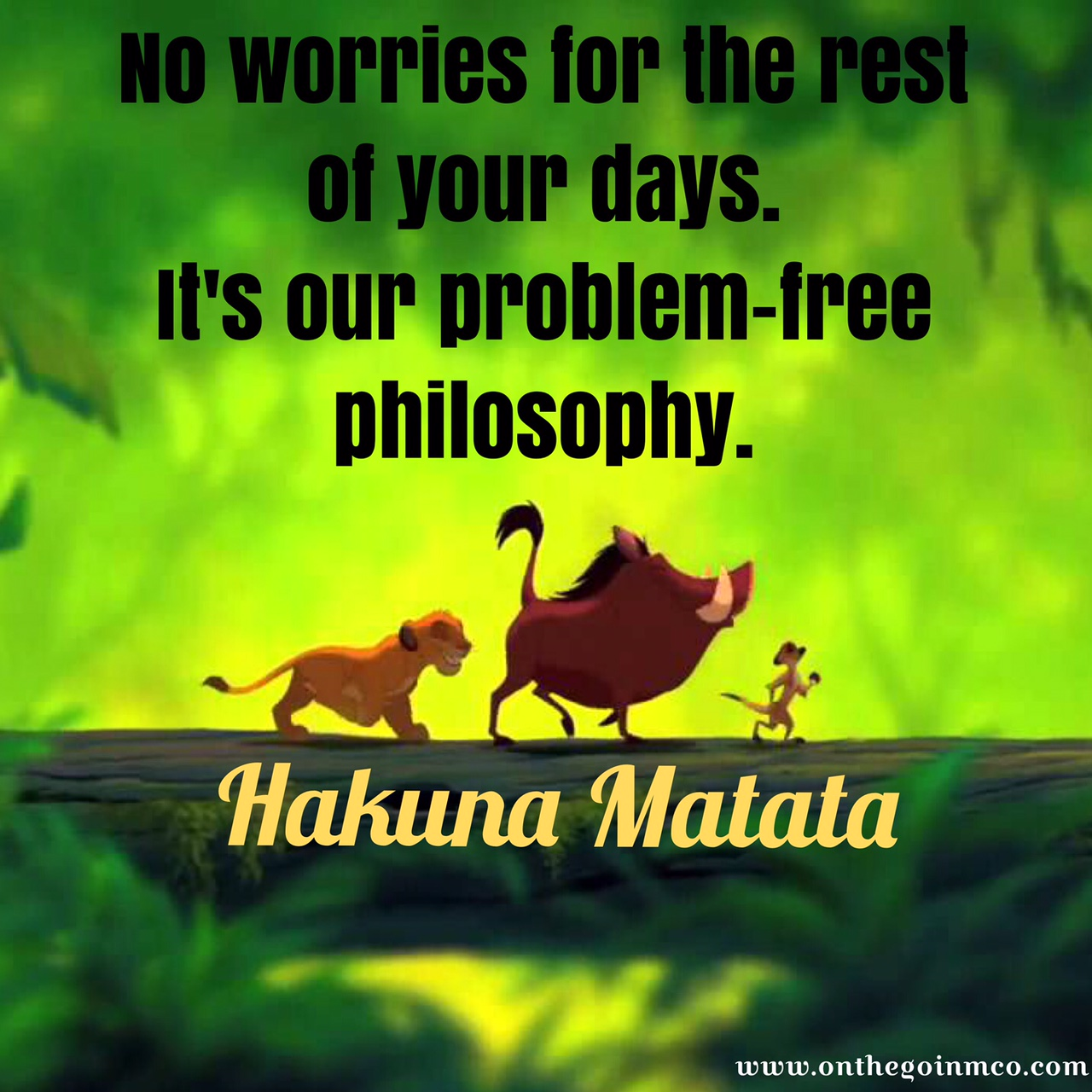 Disney Movie Quotes After a long week Hakuna Matata Timon Pumbaa The Lion King
