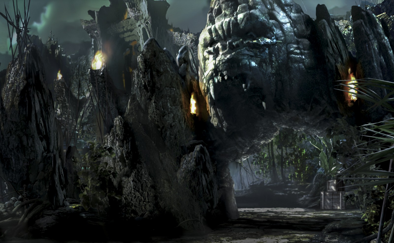 Skull Island Reign of Kong Entrance Universal Orlando Resort