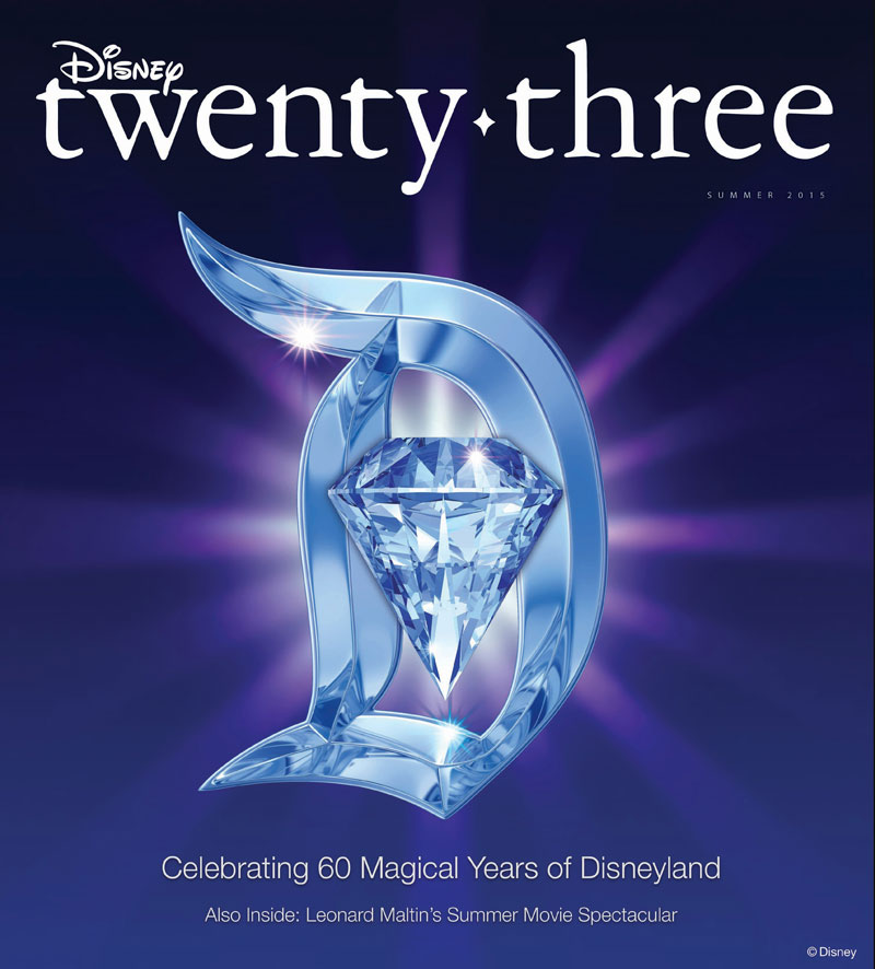 Disney D23 Summer 2015 Cover Disneyland 60 Diamond Celebration