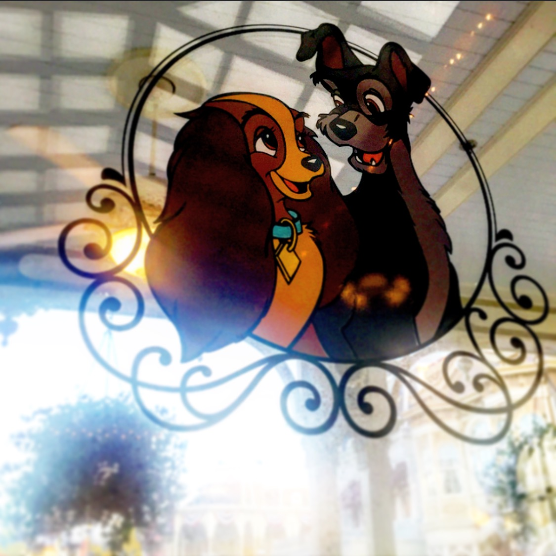 Wordless Wednesday Lady and the Tramp Tony's Town Square Disney D23 Fanniversary
