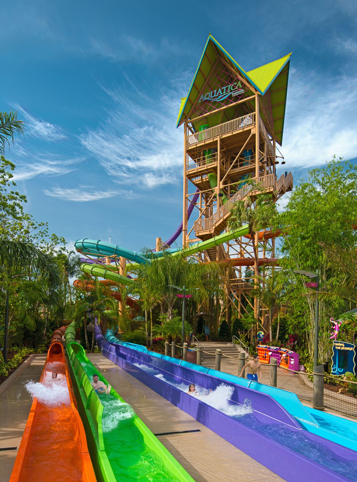 SeaWorld Orlando Summer Nights Ihu's Breakaway Falls Now Open at Aquatica Orlando - slideout