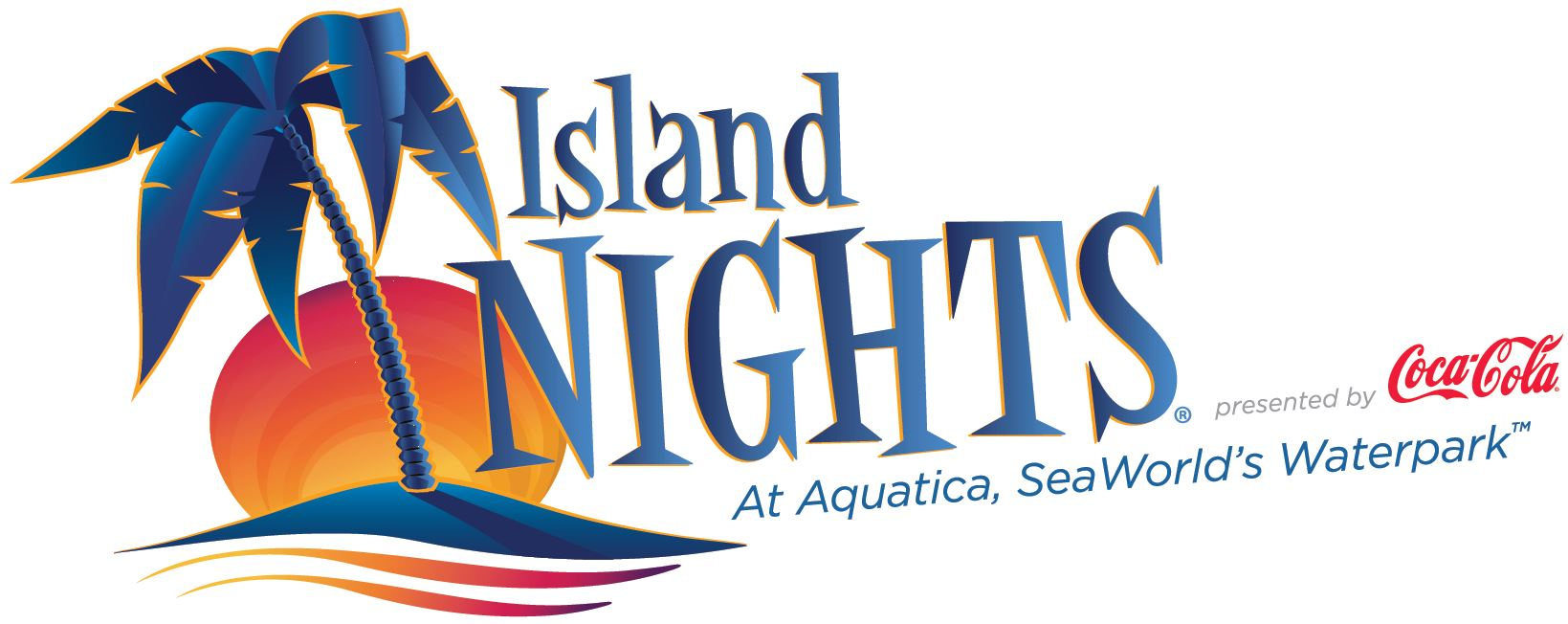 SeaWorld Orlando Summer Nights Island Nights Logo