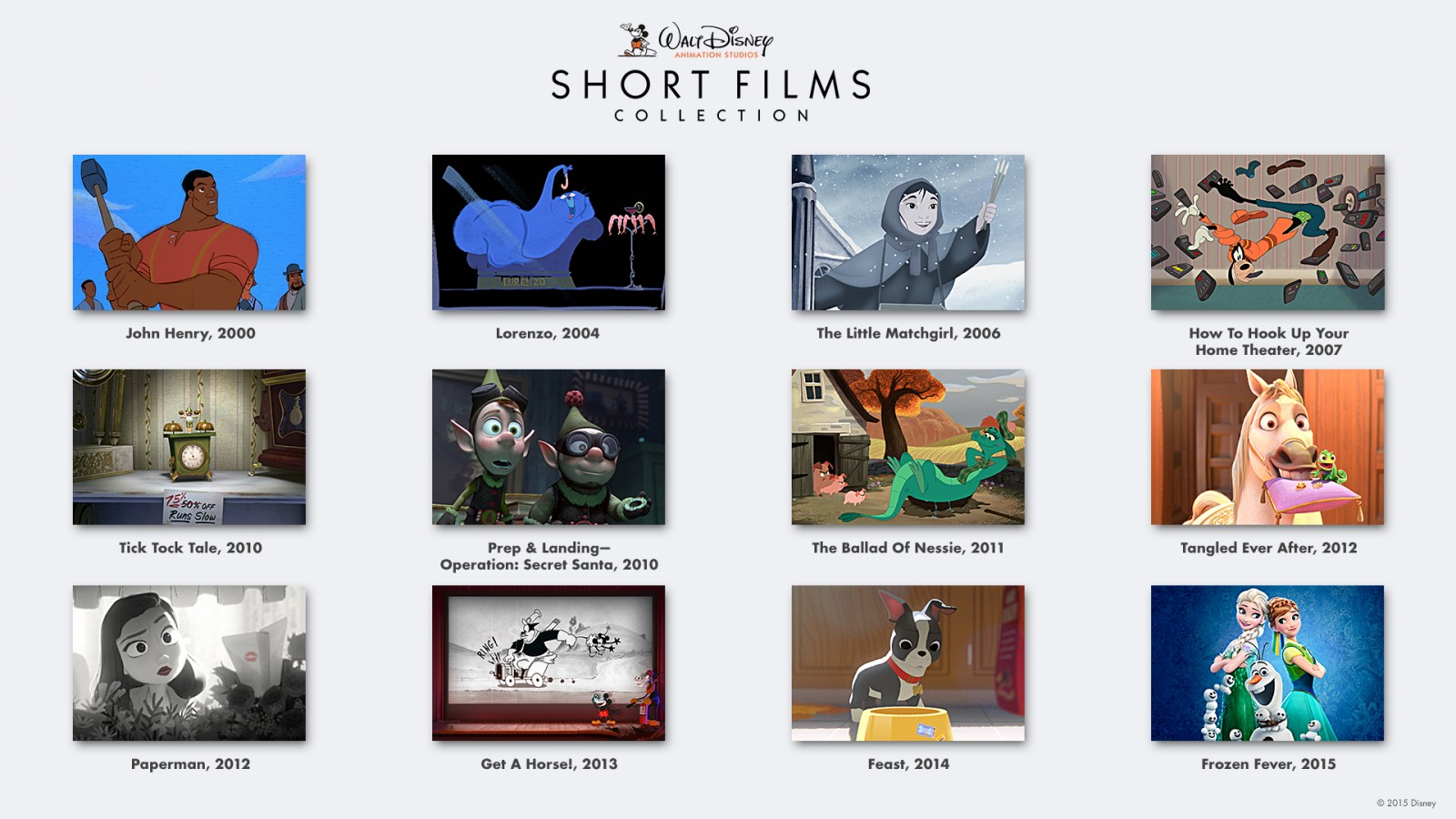 Walt Disney Animation Studios Short Film Collection