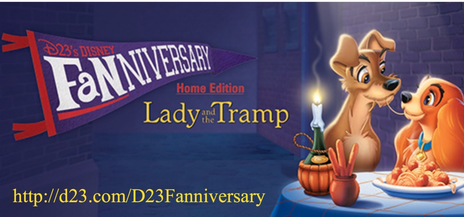 Fun Facts Lady and the Tramp D23 Fanniversary Home Edition Website
